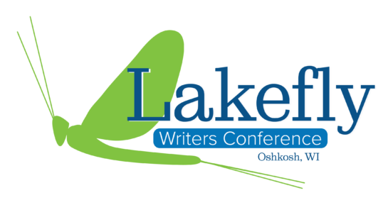 Logo for Lakefly Writers Conference located in the Fox Cities, Oshkosh, Wisconsin